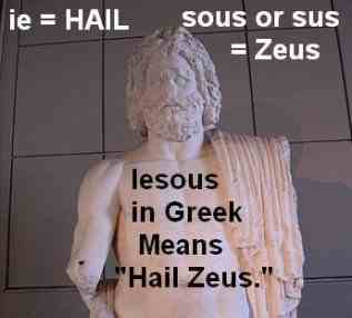 Hail Zeus no more