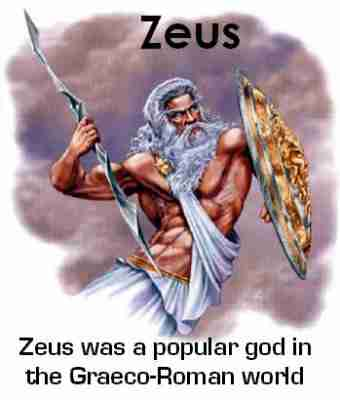 Zeus was a popular god in Graeco-Roman world