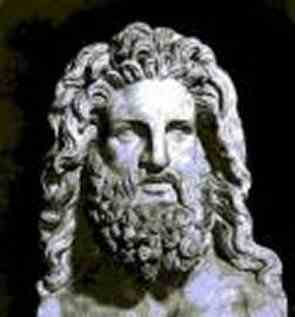 A statue of The Greek god Zeus